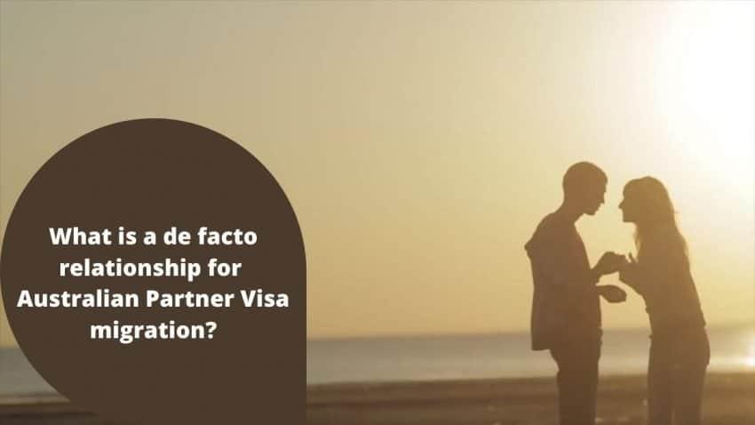 De facto partner visa Australia